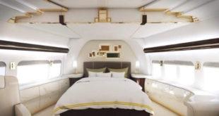 Dormir à bord d'un jet privé